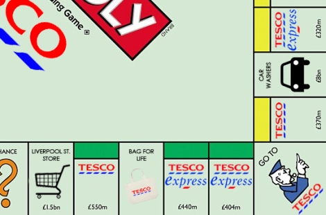 Tesco Monopoly Board